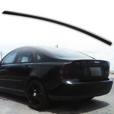 Rear Trunk Lip Spoiler For Volvo S40 2nd 04-12 Unpainted Matte Black