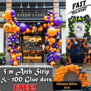 Halloween Confetti Latex Balloon Arch 100 Pc Kit Garland Halloween Party DecorUK