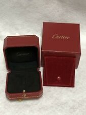 Cartier Ring Box Case Empty Red Display Presentation Travel Pouch Authentic