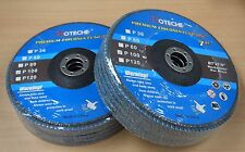 "Lot of (10) Premium Zirconia Flap Disc Grinding Wheel 7""x7/8"", 100 Grit"