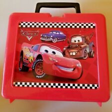 Disney Pixar Cars Lunch Box~Retro Plastic Childs Pail Collectible Memorabilia