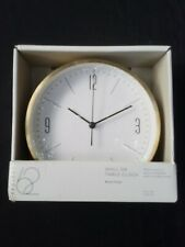 Project 62 Wall Or Table Clock Brass Finish 5.8 In Dia