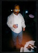 Vintage Photograph Man Wearing Creepy Bart Simpson Costume - Halloween