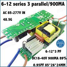 5 Pieces AC85-277V 40W PF>0.95 LED Driver 6-12x3 900mA DC18-40V Constant Current