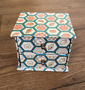Small Cardboard Two Drawer Storage Box For Trinkets Jewellery