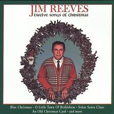 JIM REEVES TWELVE SONGS OF Blue White CHRISTMAS Card Senor Santa Claus  NEW CD