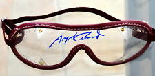 ANGEL CORDERO JR SIGNED AUTHENTIC JOCKEY GOGGLES-BURGDY