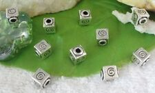 40pcs Tibetan silver spiral cube spacer beads FC9544