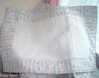 Rachel Ashwell Shabby Soft & Plush White Cottage Chenille Blue Chic Bath Rug Mat