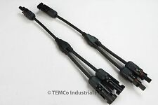 1 Pair TEMCo MC4 Y Branch Solar Panel 30A Connector MMF FFM Set Wire T Splitter