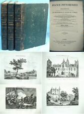 FRANCE PITTORESQUE, Départements & Colonies / Abel Hugo / 3 Tomes Delloy 1835
