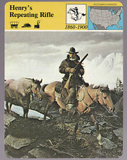 HENRY'S REPEATING RIFLE Firearm History STORY OF AMERICA CARD