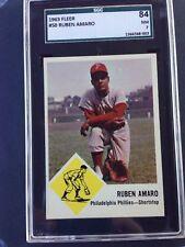 1963 FLEER # 50 RUBEN AMARO - PHILADELPHIA PHILLIES - SGC 84/7 NM