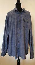 Mens Shirt Size 3XL F&F Blue Stripe <SW6016 z