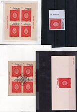 voir ces blocs,épreuve et timbre de feuille,LA TOTALE,détails en description