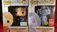 Funko Pop Harry Potter - Gilderoy Lockhart #59 & Nearly Headless Nick (GITD) #62
