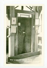 """Old Indian Door"" RPPC Deerfield MA Antique Interior Photo ca. 1920s"