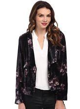 NWT Chaser Velvet Printed Jacket Blazer XS  Anthropologie Boho Nordstrom Gray