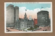Detroit,MI Michigan,City Hall, Dime Bank and Majestic Buildings used 1922