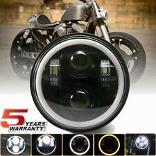 """Motorcycle 5.75"""" 5 3/4 LED Headlight Projector For Dyna Sportster XL1200 XL883"""