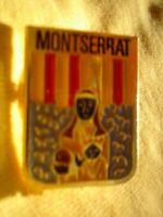 PIN ON METAL BADGE BROOCH ORIGINAL APPROX 4 CM MONTSERRAT