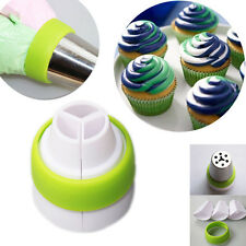 Icing Piping Bag Russian Nozzle 3-Color Converter CupCake Decorating Tool