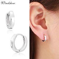 Mini Hoop Earrings Tiny Plain Loop Huggies 925 Sterling Silver Men Women Jewelry