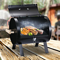 """20"""" Outdoor Tabletop BBQ Charcoal Grill Metal Free-standing w/Wooden Handle"""