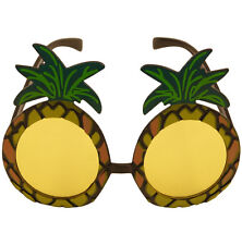 HAWAIIAN BEACH PARTY PINEAPPLE FANCY DRESS  GLASSES BEACH LEI LUAU COSTUME