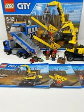 Lego city construction 60075 - Excavator and Truck - Box, Instructions, Complete