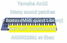 Yamaha An1X - 12.500+ Patches Sound Banks (.Syx, An1 and .Mid) Instant Download