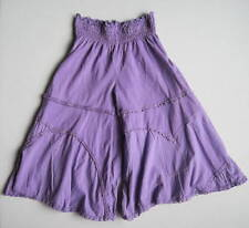 Naartjie Girls 4 Yrs Purple Smocked Waist Bell Bottoms EUC Pants Elly Enchanted