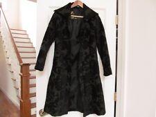 Desigual Black Brocade Jacquard Fitted Coat S 36 (EUC)