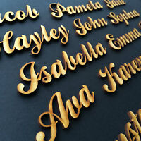 Personalised Script names, letters words. Wooden Christmas High Quality MDF BP