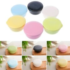 Portable Travel Bathroom Round Soap Case Box Dish Plate Holder Case Container