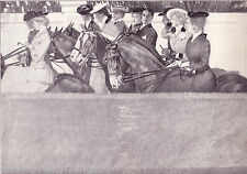 VICTORIAN Women Men HORSE Riding FASHION Style Hat Vintage 1908  MATTED Picture