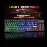 SUNROSE K201 USB Wired 104 Key 3-Color Backlight Mechanical Feel Gaming Keyboard