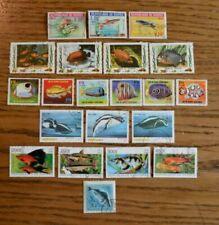 Francobolli a tema pesci e animali marini, di Guinea, tema pesci