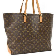 Подлинный монограмма Louis Vuitton Cabas Alto M51152 наплечная сумка коричневый холст AH1111