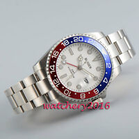 43mm BLIGER white dial date Sapphire Pepsi GMT Automatic Movement men's Watches