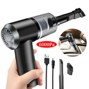 6000PA Handheld Car Vacuum Cleaner Cordless Recharging Portable For Home Wet Dry
