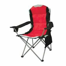 Luxury High Back Mapleton Padded Camping Chair 100kg Weight Limte Outdoor Red