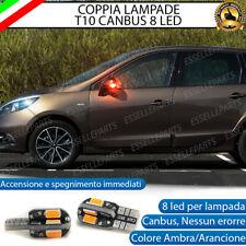 COPPIA LAMPADE FRECCE LED LATERALI RENAULT SCENIC 3 T10 CANBUS NO ERRORE