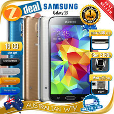 (NEW SEALED BOX) SAMSUNG GALAXY S5 SM-G900 4G LTE UNLOCKED PHONE 12MTH AUS WTY