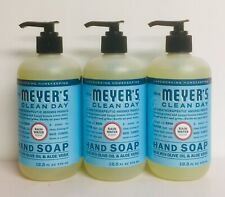 (3) Mrs. Meyer's Rain Water Hand Soap w/ Olive Oil & Aloe Vera 12.5 fl oz Each