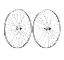 2x Llanta Rueda Bicicleta de Piñon Libre 700 Aluminio PLATA 1V Singlespeed 6272