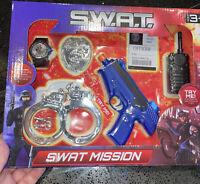 CHILDREN TOY PRETEND SWAT TEAM POLICE SET SOUND EFFECTS GUN WITH BATTERIES 🔋