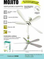 CFG MOJTO Ventilatore a Soffitto Magnetico a 5 Pale Bianco Diametro 90 cm EV060