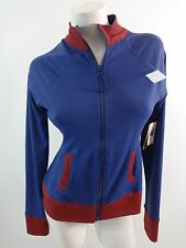 NWT THREADS FOR THOUGHT WOMENS BLUE POLYESTER FRONT ZIP ATHLETIC JACKET SIZE M