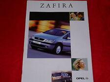 OPEL Zafira A Basis Comfort Elegance Prospekt und Preisliste von 2000